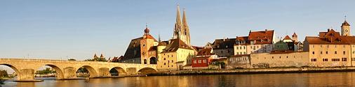 Uferpanorama von Regensburg